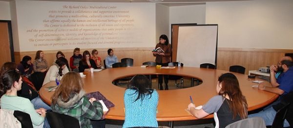 LeAnne Howe Reading at the Richard Oakes Multicultural Center, SFSU.